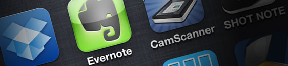 iOS版Evernoteの新規ノートは美味しそうでした。